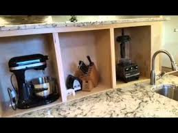 Kitchen Appliance Lift - hidden storage and tv lift youtube