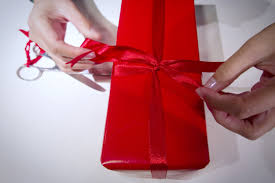 how to wrap a gift in 12 seconds flat and prepare it for shipping