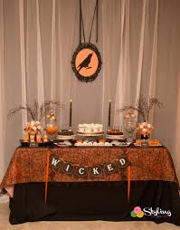 halloween tablecloth wicked black u0026 orange halloween styling the moment