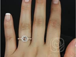 flower halo engagement ring rosados box 6mm 14kt gold morganite and diamonds
