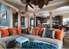 Teal Blue Living Room by Love This Home Tour Filled With Fun Collections Like Cuckoo
