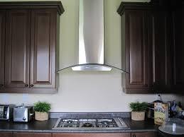 decor curvy glass wall mount range hood for kitchen decoration ideas