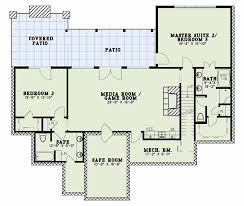 house plans with media room house plan with courtyard entry garage 1649 cliffs ii