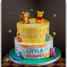 winnie the pooh baby shower cakes winnie the pooh baby shower cake buttercream with fondant details
