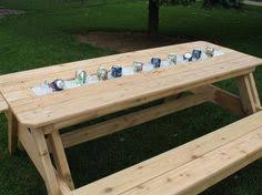 Plans For A Picnic Table And Benches by Easy Picnic Table Bench Plans Picnic Table Plans Table Plans
