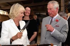 camilla brandishes knife at prince charles at australian winery