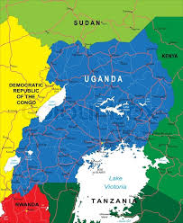 uganda map vector highly detailed vector map of uganda with administrative regions