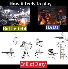 Funny Call Of Duty Memes - battlefield vs halo vs call of duty funny pinterest gaming