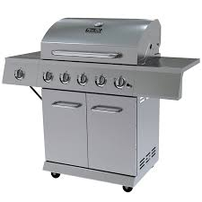 amazon com dyna glo dge series propane grill 5 burner stainless