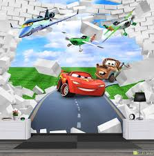 children s wallpaper wall murals disney cars fototapet art 3d children s wallpaper wall murals disney cars
