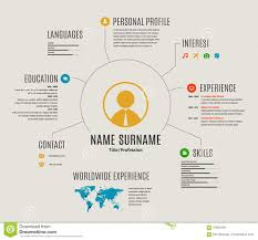 Curriculum Map Template Vector Resume Web Template Cv With Icons Stock Vector Image