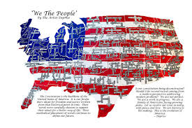 American Flag Words We Are The People