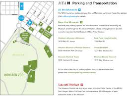 parking and transportation options the museum of fine arts houston