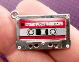 Parts For Jewelry Making - mix tape charms silver cassette tape pendants 2 charms from
