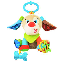 sozzy cute baby musical mobile crib bed toys infant happy dog