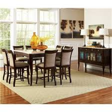 steve silver marseille 7 piece rectangular marble table and