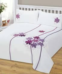Plum Duvet Cover Set White Duvet Cover With Purple Flowers 484