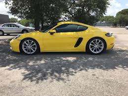 Porsche Boxster X73 - installed lowering springs
