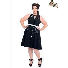 sized retro keyhole flared black gretta dress by voodoo vixen sz
