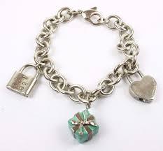 jewelry sterling charm bracelet images Authentic tiffany co sterling silver charm bracelet with enamel jpg