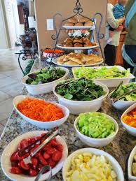 diy salad bar for a party guests will enjoy putting their own