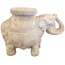 Elephant Side Table Rustic Plaster And Cement Elephant Side Table And Garden Seat For