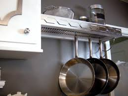 Kitchen Pot And Pan Storage How To Build A Pot Rack With Shelf Hgtv