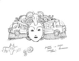 jeepney drawing unmasking the jeepney a journey into mask design on behance