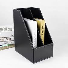 Desk Filing Organizer A4 2 Slot Wood Desk File Book Stand Storage Box Holder Wooden