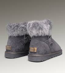 sale on womens ugg slippers leather ugg boots sale ugg fox fur mini boots 5859 grey popular
