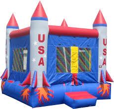 garden extraordinary bouncy houses with nasa rocket figure and