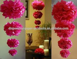 paper tissue flowers tissue paper poms centerpieces wedding