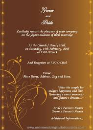 hindu wedding invitation hindu wedding invitation templates sunshinebizsolutions hindu
