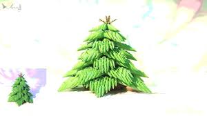 how to make 3d origami christmas tree youtube