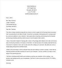 faculty position cover letter nursing instructor cover letter