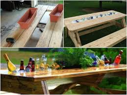 Cool Patio Tables To Make A Patio Table With Built In Coolers Step By Step Tutorial