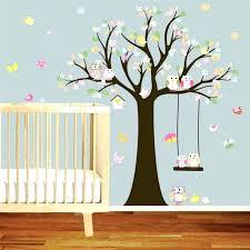 stickers arbre chambre fille sticker chambre enfant arbre sticker renard oiseaux stickers muraux