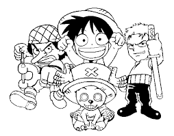 coloriage one piece imprimer dessin personnage one pice a