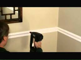 Average Height Of A Chair Rail How To Install Chair Rail Video Youtube