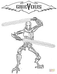 general grievous coloring free printable coloring pages
