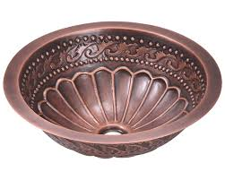 924 single bowl copper bathroom sink