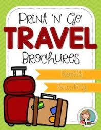 country travel brochure template and internet research resources