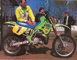 factory motocross bikes somebody asked for a pic of thorpe u0027s crazy 1990 factory kx500 here
