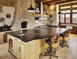 Stone Backsplashes For Kitchens Interior White Stacked Stone Backsplash With Large Kitchen