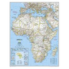Africa Political Map by National Geographic Africa Political Map 197917 Compasses