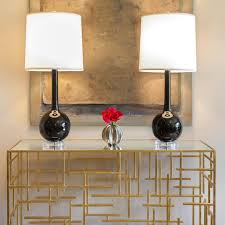 Contemporary Console Table Worlds Away Contemporary Console Table Gold Leaf Scenario Home