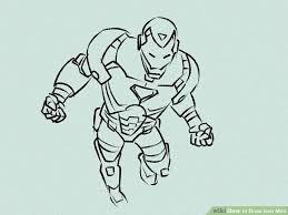 4 ways draw iron man wikihow