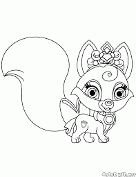 coloring page fox nuzzles