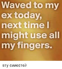 Use All The Memes - waved to my ex today next time might use all my fingers ѕтαу σииє