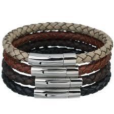 leather bracelet styles images Best louleur 2017 genuine leather bracelet male bracelets stacha jpg
